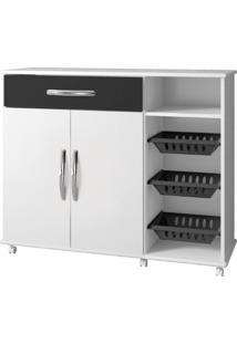 Armário Cozinha Com Fruteira Salinas Arte Móveis -Preto