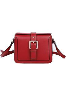Bolsa Transversal Com Fivela - Vermelha - 18X22X10Cmfellipe Krein