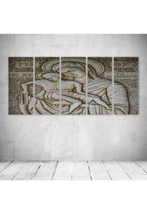 Quadro Decorativo - Engraving238 - Composto De 5 Quadros