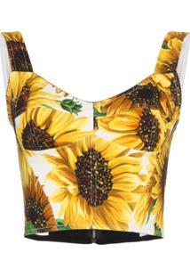 Dolce & Gabbana Blusa Com Estampa De Girassol - Amarelo