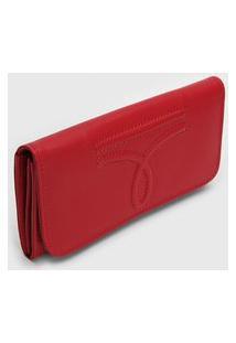 Carteira Calvin Klein Textura Vermelha
