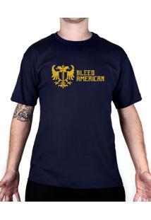 Camiseta Bleed American Squad Azul-Marinho