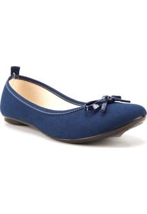 Sapatilha Moleca Vintage Lona Azul Marinho