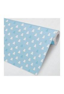 Papel De Parede Ursinho Teddy Azul Tiffany 3M Gráo De Gente Azul