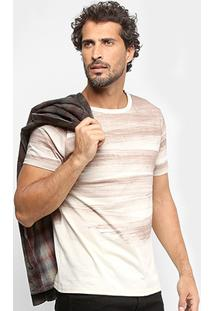 Camiseta Treebo Brush Masculina - Masculino-Bege