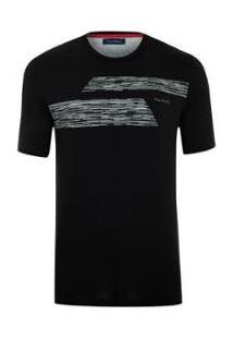 Camiseta Pierre Cardin Black Skil - Masculino-Preto