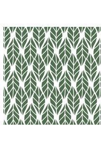 Papel De Parede Folhas Verde Escuro Para Sala 57X270Cm