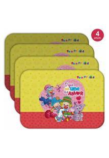 Jogo Americano O Que Nos Une É O Amor - Produto Licenciado Kit Com 4 Pçs