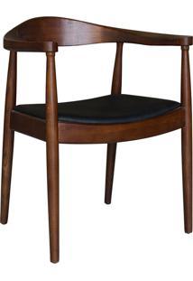 Cadeira De Madeira Carolina -Rivatti - Marrom Escuro