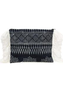 Bolsa Carteira / Clutch Sneak Peek Batik Azul Marinho