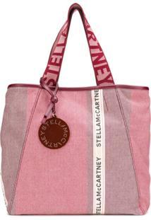 Stella Mccartney Bolsa Tote Shopping Com Logo - Vermelho