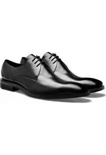 Sapato Social Brogan Derby Philp Masculino - Masculino-Preto