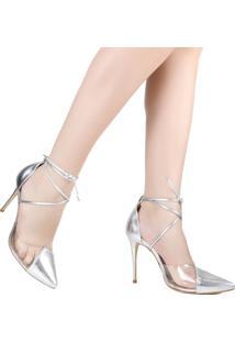 Sapato Bico Fino Zariff Metalizada Vinil