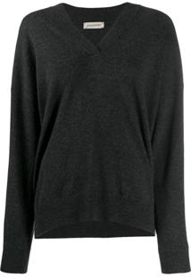 Gentry Portofino Rhinestone-Embellished Pullover - Cinza