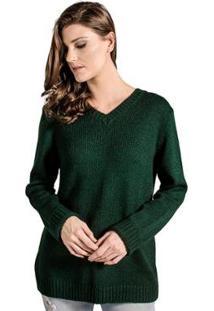 Blusa Tricot Winthrop - Feminino-Verde Escuro