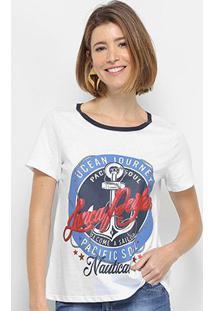 Camiseta Lança Perfume Descolada Pacif Soul Feminina - Feminino