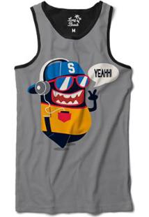 ... Camiseta Regata Long Beach Lb Yeah Sublimada Masculina - Masculino-Cinza f74344d9ff2