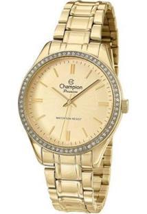 Relógio Champion Analógico Cn29856X Feminino - Feminino-Dourado