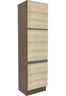 Paneleiro Madesa Glamy 60 Cm 3 Portas Rustic/Saara