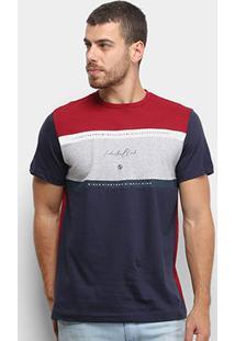 Camiseta Industrie Especial Bicolor Masculina - Masculino-Bordô
