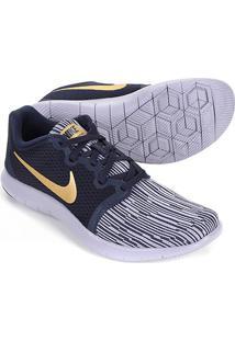 Tênis Nike Flex Contact 2 Feminino - Feminino-Preto+Dourado