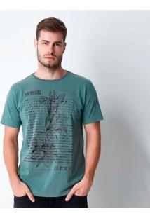 Camiseta Hiatto Estonada Brooklyn - Masculino-Verde