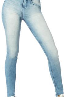 f2d4c76f8 ... Calça Jeans Denim Zero Skinny Média Barra Mullet - Dz2546 - Feminino- Jeans