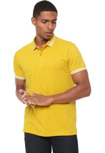 Camisa Polo Colcci Reta Brasil Amarela