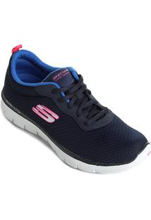 3f847c26ebc Netshoes. Tênis Skechers Flex Appeal 2.0 News Feminino ...