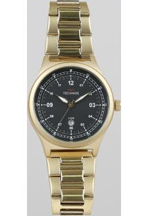 Relógio Analógico Technos Masculino - 2115Mqy4P Dourado - Único