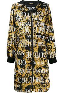 Versace Jeans Couture Casaco Com Estampa Barroca - Preto