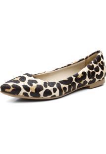 Sapatilha Bico Fino Couro Stefanello 100 Leopardo