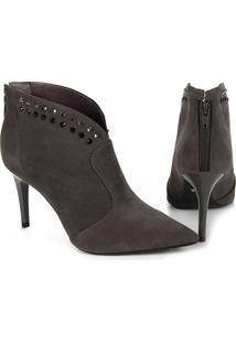 Ankle Boots Feminina Lara - Cinza