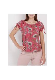 Blusa Ciganinha Feminina Rosa