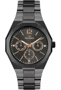 Relógio Feminino Technos 6P29Aje/4P 40Mm Aço - Feminino-Preto