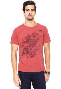 Camiseta Aramis Regular Fit Estampada Vermelha