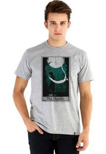 Camiseta Ouroboros Manga Curta Hunter'S Fate - Masculino-Cinza
