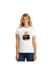 Camiseta Feminina T-Shirt Bad Cat Pets