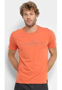 Camiseta Ellus Basic Masculina - Masculino-Laranja