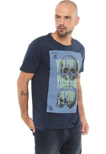 Camiseta Red Nose Estampada Azul-Marinho