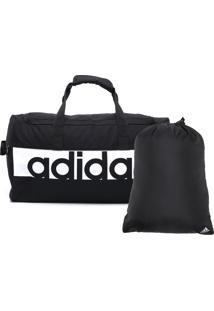 Mala Adidas Ess Linear S Preta/Branca