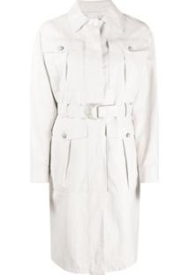 Pinko Ttrench Coat Diplomatic - Branco