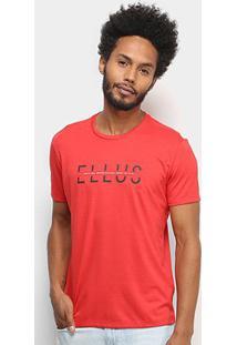 Camiseta T-Shirt Ellus Estampada Masculina - Masculino-Vermelho