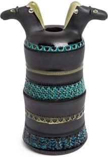 Bitossi Ceramiche Vaso Horse Heads - Azul