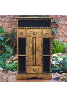Armário Gold C/ Porta Cds - Bali Rústico