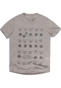 Camiseta Khelf Masculina Flamê Caveira Militar