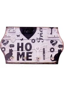 Porta Chaves Libbys Home Cat Preto