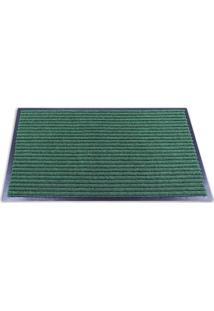 Tapete Texturizado- Verde Escuro & Preto- 60X40Cm