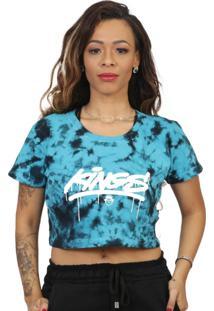 Camiseta Kings Sneakers Cropped Tie Dye Azul - Kanui