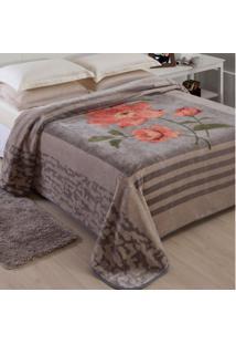 Cobertor Casal Poliéster Microfibra Paris Jolitex Cinza